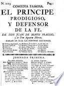 Comedia Famosa. El Principe Prodigioso, Y Defensor De La Fe