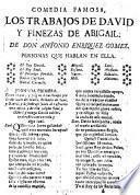 Comedia Famosa, Los Trabajos De David Y Finezas De Abigail