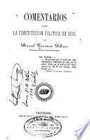Comentarios sobre la Constitución política de 1833
