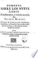 Comento sobre los nueve Libros de los Exemplos