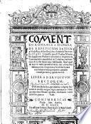 Commento en romance a manera de repeticion Latina y scholastica de Iuristas, sobre el capitulo Inter verba XI. q. III. ... En el qual de rayz se trata, quando el dezir, oyr, o huyr las alabanças, los vituperios y las detractiones ... es merito, quando venial peccado, y quādo mortal, etc. (Siguese la respuesta Chr̄iana de la appelaciō en este cōmēto fundada.-Tabla o reportorio. [By H. a Cueva.]).