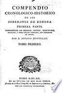 Compendio cronologico-historico de los soberanos de Europa ...