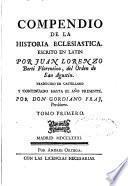 Compendio de la historia eclesiastica