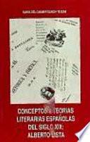 Conceptos y teorías literarias españolas del siglo XIX