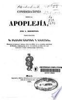 Consideraciones sobre la apoplejía