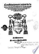 Constituciones [e] actos de la sancta synodo del obispado de Coria