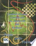 Contribuciones científicas en memoria del profesor Dr. Jesús Soto Torres