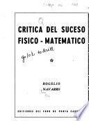 Crítica del suceso físico-matemático