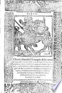 Cronica llamada el Triumpho de los nueve mas preciados varones de la Fama trad. en vulgar Castellano por Antonio Rodriguez Portugal