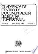Cuadernos del Centro de Documentación Legislativa Universitaria