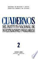 Cuadernos del Instituto Nacional de Investigaciones Folklóricas