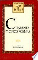 Cuarenta y cinco poemas