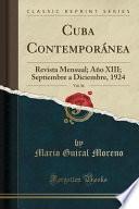 Cuba Contemporánea, Vol. 36