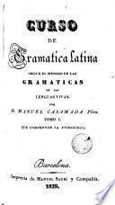 Curso de gramática latina