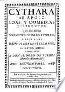 Cythara de Apolo, varias poesias divinas y humanas, que ... saca a luz Juan de Vera Tasis y Villarroel