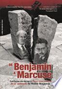De Benjamin a Marcuse