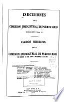 Decisiones de la Comisión Industrial de Puerto Rico