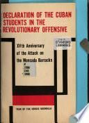Declaration of the Cuban students in the Revolutionary offensive