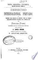 Derecho internacional privado: (375 p.)