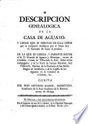 Description genealogica de la Casa de Aguayo