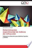 Determinación experimental de índices de refracción