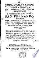 Devota novena en obsequio del insigne conquistador y grande rey de España San Fernando