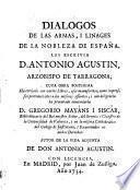 Dialogos de las armas de la nobleza de Espana