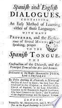 Diálogos ingléses y españoles