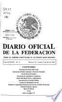 Diario oficial de la federación