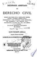 Diccionario abreviado del derecho civil