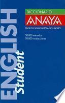 Diccionario Anaya English Student