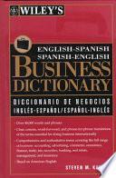 Diccionario de Negocios Inglés-español, Español-inglés Wiley