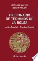 Diccionario de términos de la bolsa