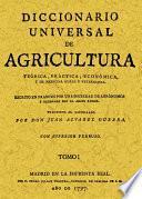 DICCIONARIO UNIVERSAL DE AGRICULTURA (16 TOMOS)