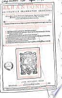 Dictionarium Aelii Antonii Nebrissensis ...