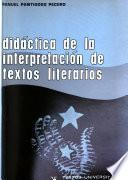 Didáctica de la interpretación de textos literarios
