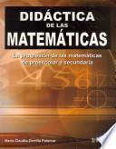 Didactica de las matematicas / Mathematics Education