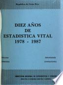 Diez años de estadística vital, 1978-1987