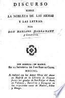 Discurso sobre la nobleza de las armas y las letras