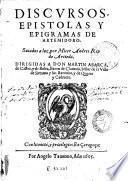 Discursos, epistolas y epigramas de Artemidoro