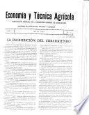 Economía y técnica agrícola