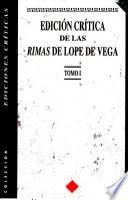 Edición crítica de las rimas de Lope de Vega