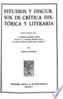Edición nacional de las obras completas de Menéndez Pelayo: Estudios y discursos de crítica histórica y leteraria