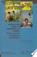 Educacion Para El Desarrollo Rural