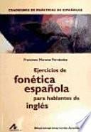 Ejercicios de fonética española para hablantes de inglés