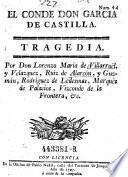 El Conde Don Garcia de Castilla. Tragedia
