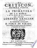 El Criticon ... De La Ninez