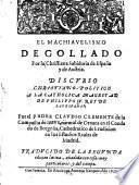 El machiavelismo degollado por la christiana sabiduria de España y de Austria