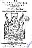 El Monserrate del capitan Cristoual de Virues