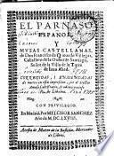 EL PARNASO ESPAÑOL, Y MVSAS CASTELLANAS